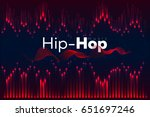 hip hop equalizer  music... | Shutterstock .eps vector #651697246