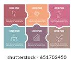 vector puzzle infographic.... | Shutterstock .eps vector #651703450
