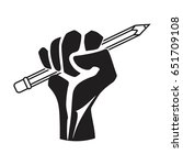 pencil in hand   fight for...   Shutterstock .eps vector #651709108