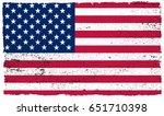 grunge usa flag.vintage... | Shutterstock .eps vector #651710398