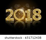 happy new year 2018  | Shutterstock .eps vector #651712438