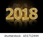 happy new year 2018  | Shutterstock .eps vector #651712444