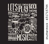 Music Rock Drums Typography ...