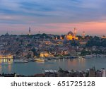Sunset In Istanbul  Turkey Wit...