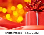 closeup of a red gift box with... | Shutterstock . vector #65172682