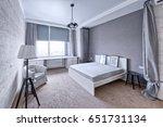 modern interior of a bedroom in ... | Shutterstock . vector #651731134