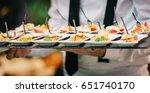 catering service finger bites...   Shutterstock . vector #651740170