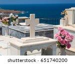 Greek Cemetery White Stoned...