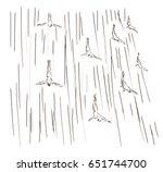 hand drawn sketch of dubai mall ... | Shutterstock .eps vector #651744700