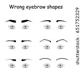 female eyes and eyebrows vector ... | Shutterstock .eps vector #651752329