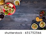 tasty and delicious bruschetta... | Shutterstock . vector #651752566