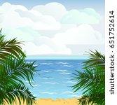 palms  beach  sea  sandy beach  ... | Shutterstock .eps vector #651752614