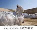 big asbestos landfill  | Shutterstock . vector #651753253