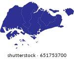 high detailed blue vector map   ... | Shutterstock .eps vector #651753700