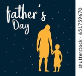 father's day vector... | Shutterstock .eps vector #651759670