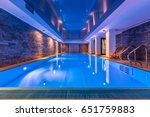luxurious villa swimming pool... | Shutterstock . vector #651759883