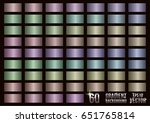 set of 60 colored gradients ... | Shutterstock .eps vector #651765814
