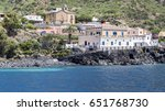 Small photo of View of Rinella from the sea. Salina, Aeolian Islands, Sicily, Italy