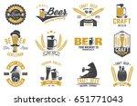 set of craft beer badges with...   Shutterstock .eps vector #651771043