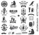 Set Of Craft Beer Badges With...