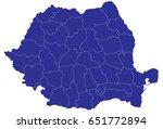 high detailed blue vector map   ... | Shutterstock .eps vector #651772894