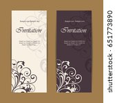 wedding invitations with... | Shutterstock .eps vector #651773890