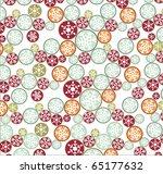 christmas pattern | Shutterstock .eps vector #65177632