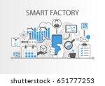 smart factory or industrial... | Shutterstock .eps vector #651777253