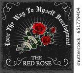 vintage rose poster print... | Shutterstock .eps vector #651779404