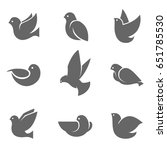 dove grey silhouette  symbol of ... | Shutterstock .eps vector #651785530