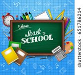 back to school concept with... | Shutterstock .eps vector #651786214