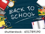 back to school background with... | Shutterstock .eps vector #651789190