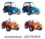 cars set convertible | Shutterstock .eps vector #651791944