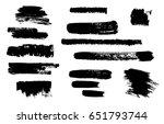 hand drawing brush stroke. set... | Shutterstock .eps vector #651793744