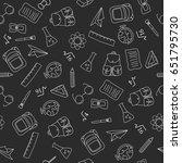 back to school doodles in... | Shutterstock . vector #651795730