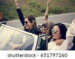 group of diverse friends travel ... | Shutterstock . vector #651797260