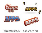 apps text for title or headline....   Shutterstock . vector #651797473
