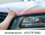 pasting of car carbonic plastic ... | Shutterstock . vector #651797680