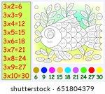 exercise for children with... | Shutterstock .eps vector #651804379