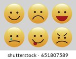 set of emoticons  icon pack ... | Shutterstock .eps vector #651807589