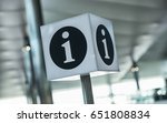 info point symbol on a airport | Shutterstock . vector #651808834
