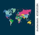 world map vector | Shutterstock .eps vector #651810184