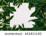 creative layout made of leaves... | Shutterstock . vector #651811150