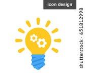 vector icon solution idea bulb | Shutterstock .eps vector #651812998