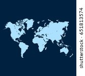 world map vector. | Shutterstock .eps vector #651813574