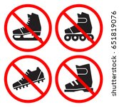 prohibition signs set. no ice... | Shutterstock .eps vector #651819076