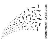hand source stream. raster... | Shutterstock . vector #651819838