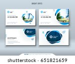 business card design. business... | Shutterstock .eps vector #651821659