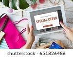promotion fare deal sale... | Shutterstock . vector #651826486