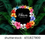 bright hawaiian design with... | Shutterstock .eps vector #651827800